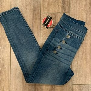 Express perfect denim ankle high rise jeans